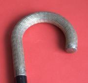Антикварная трость с массивной серебряной рукоятью. Начало 1900-х гг.