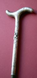 Изящная антикварная трость с серебряной рукоятью,  Ар-Деко,  1900е гг.