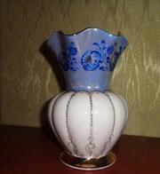 ваза императорского фарфора товарищества м с кузнецова