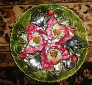 блюдо розы императорского фарфора м с кузнецова